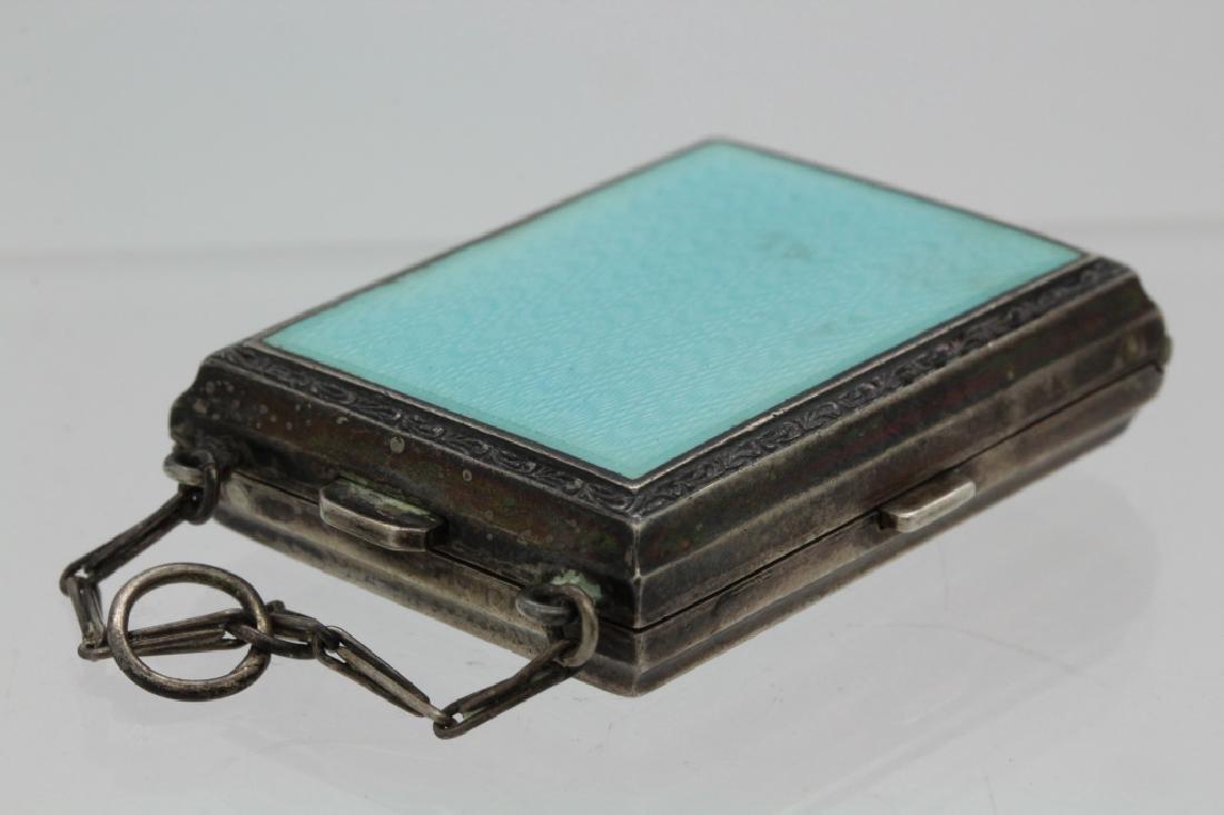 Antique German Enamel .935 Silver Compact Pendant - 4