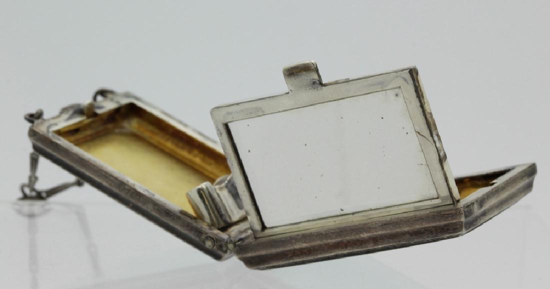 Antique German Enamel .935 Silver Compact Pendant - 6