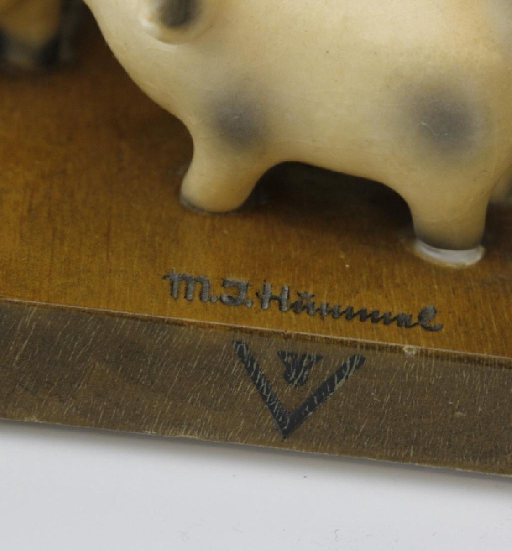 PAIR of Hummel Porcelain & Wood Decor Bookends - 5