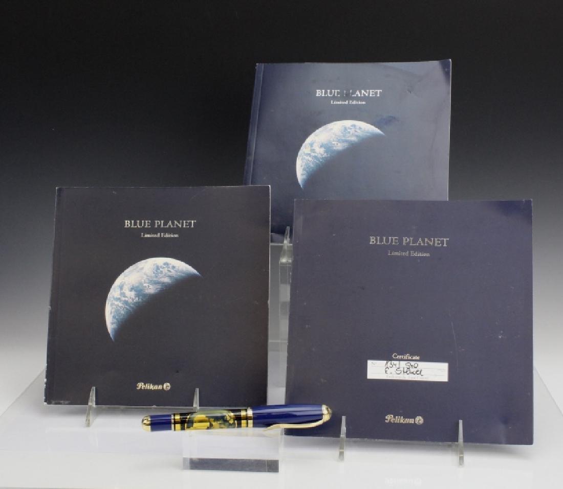 Rare PELIKAN Planet Blue Sterling Silver Fountain Pen - 2