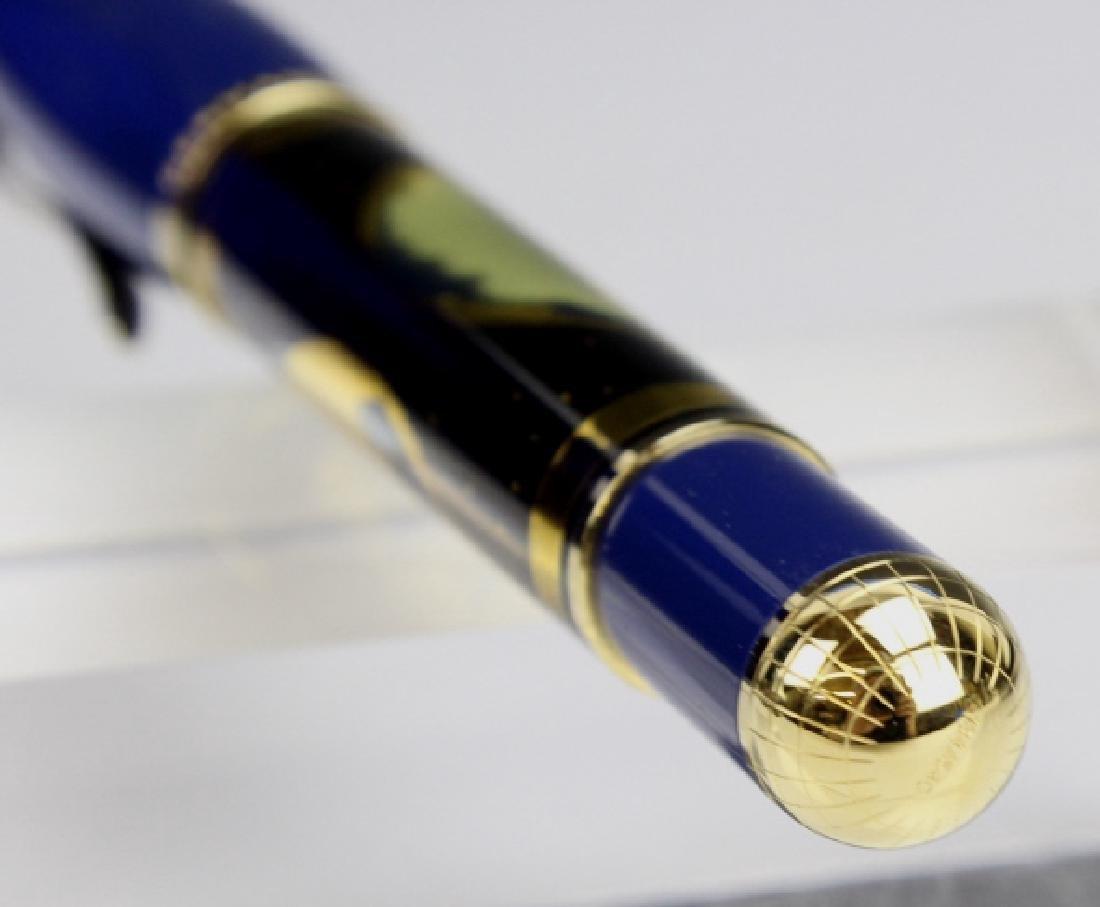 Rare PELIKAN Planet Blue Sterling Silver Fountain Pen - 7