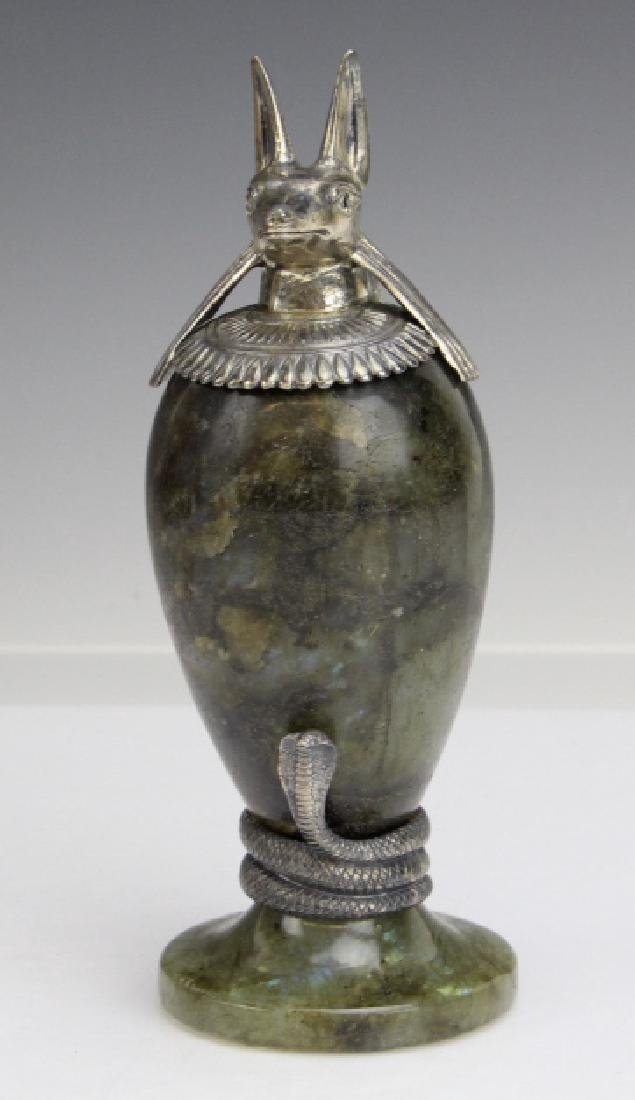 MONTEGRAPPA Luxor Sterling Silver Labradorite Inkwell - 2