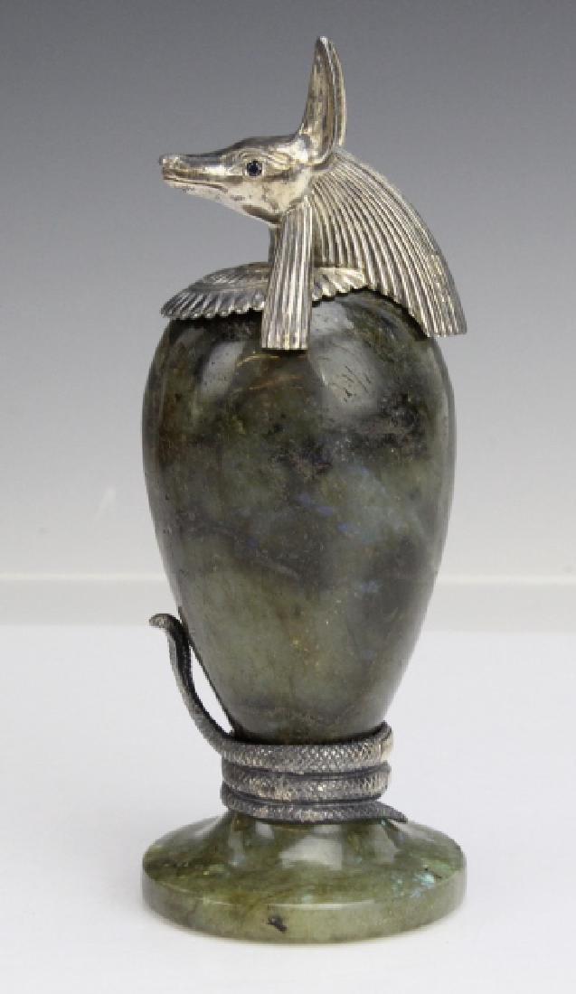 MONTEGRAPPA Luxor Sterling Silver Labradorite Inkwell - 3