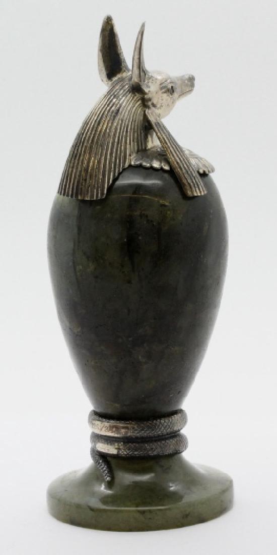 MONTEGRAPPA Luxor Sterling Silver Labradorite Inkwell - 4