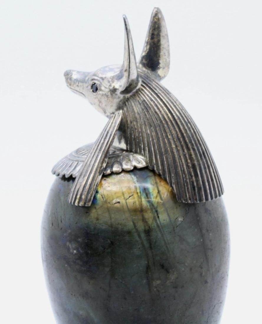MONTEGRAPPA Luxor Sterling Silver Labradorite Inkwell - 5
