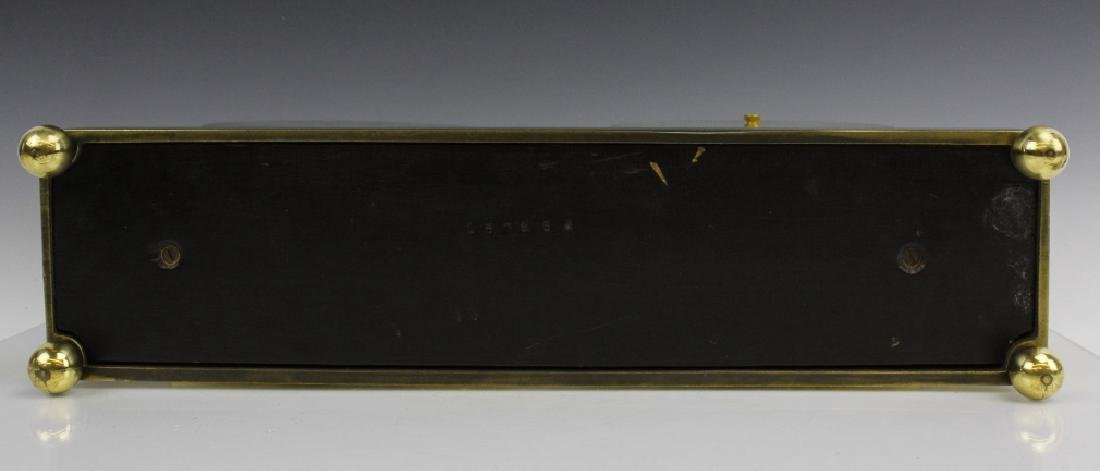 Double Chelsea Brass Ships Bell Clock w Barometer - 10