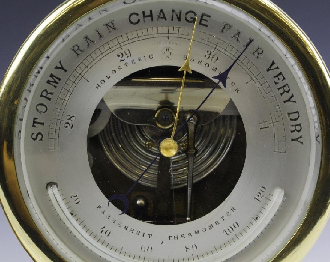 Double Chelsea Brass Ships Bell Clock w Barometer - 4