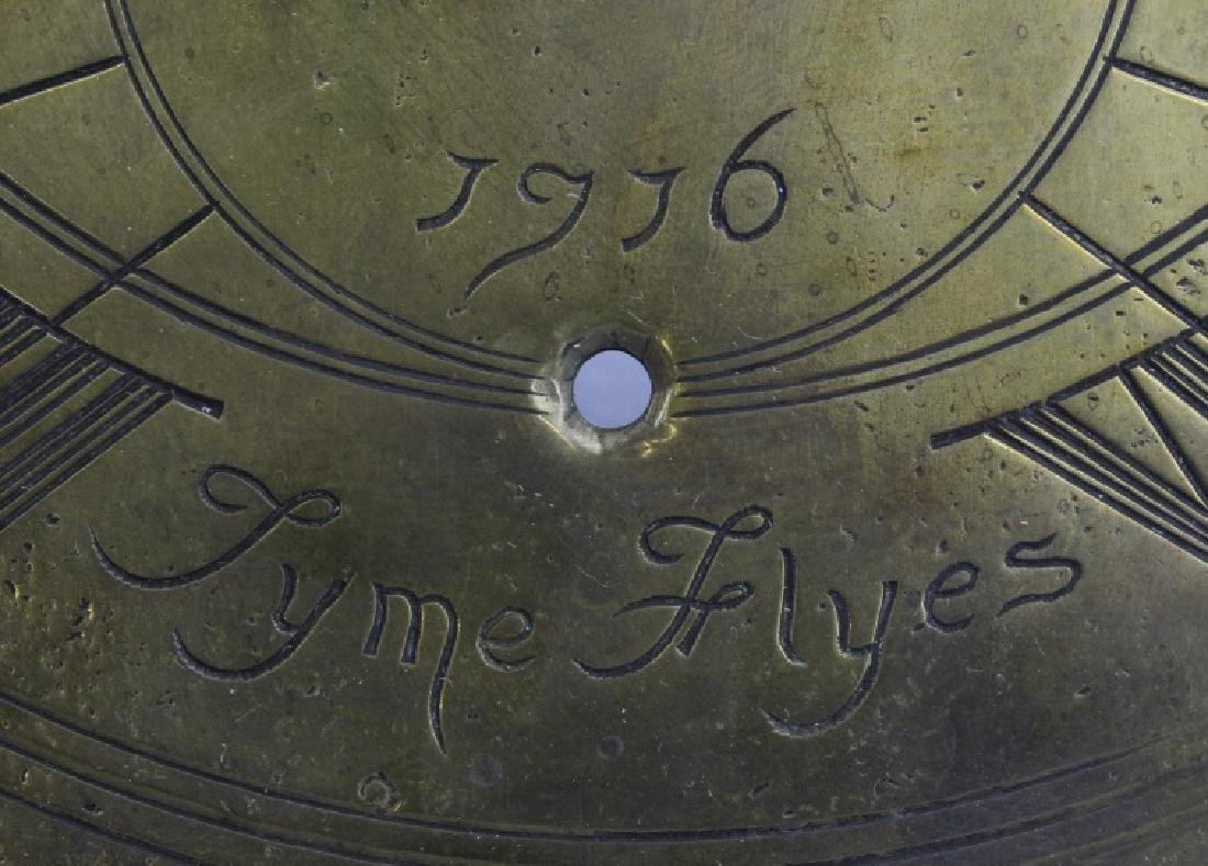 18c Style Engraved Brass Tyme Flyes Sundial - 6