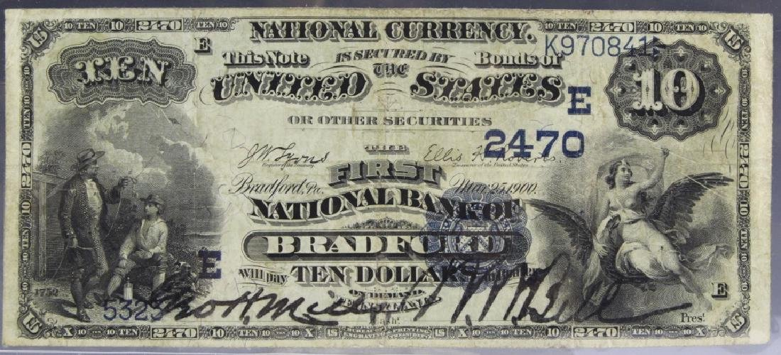 1882 Bradford NB PA $10 Date Back Fr. 545 CH 2470 Note
