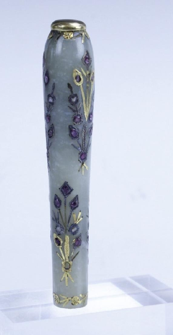 Mughal Style Chinese White Jade Dagger Handle - 8