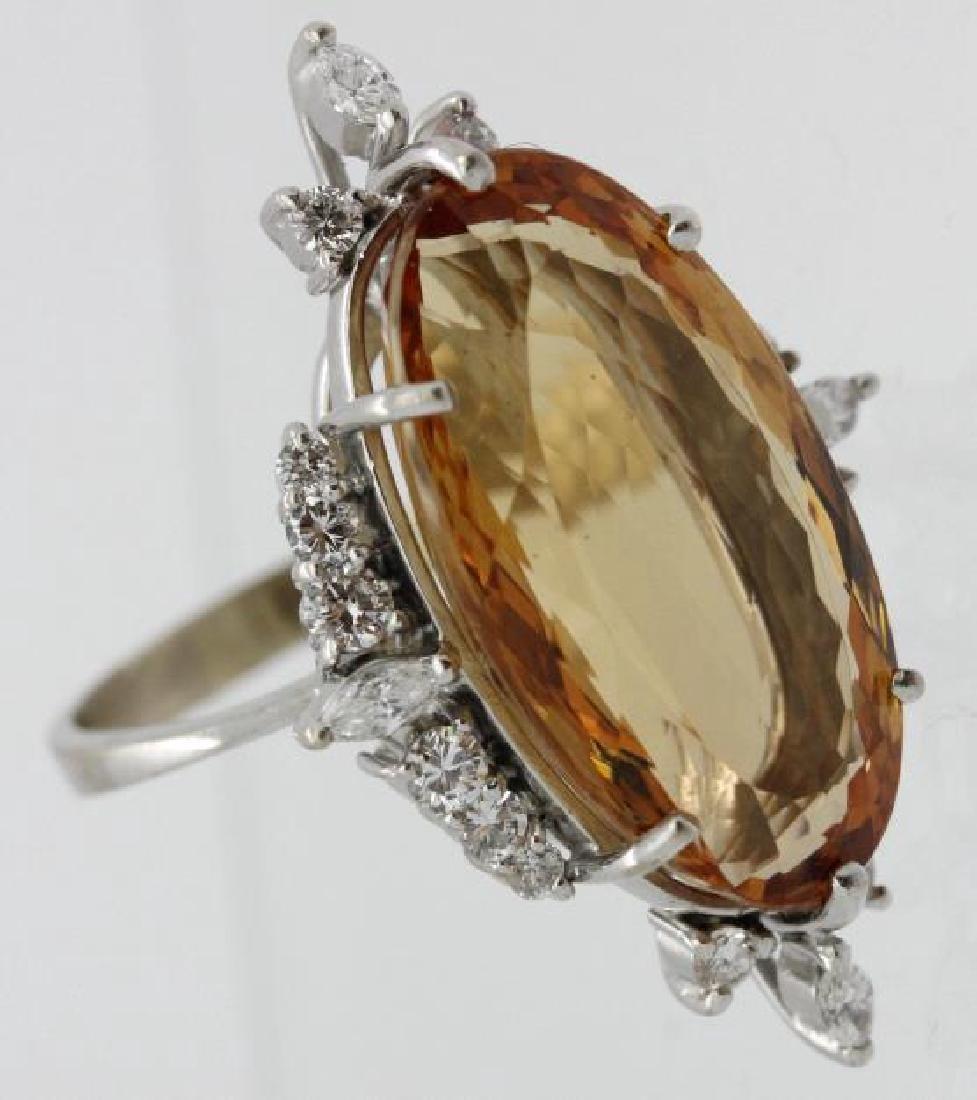 18k White Gold H STERN Precious Topaz Diamond Ring