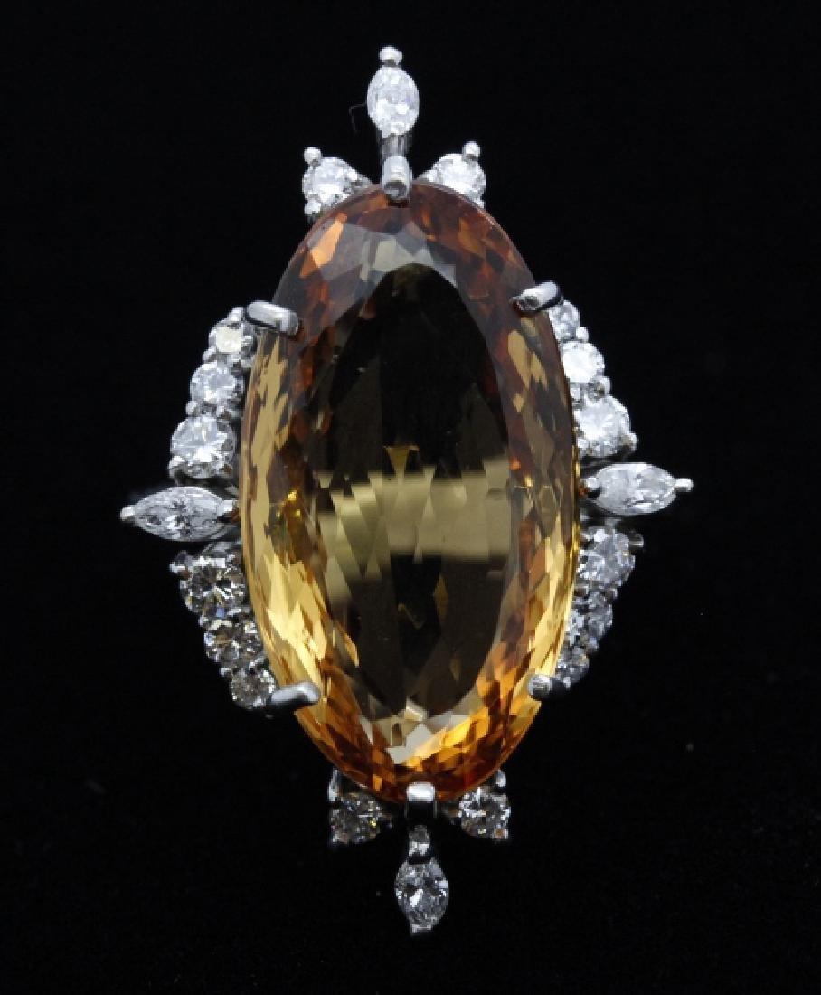18k White Gold H STERN Precious Topaz Diamond Ring - 2