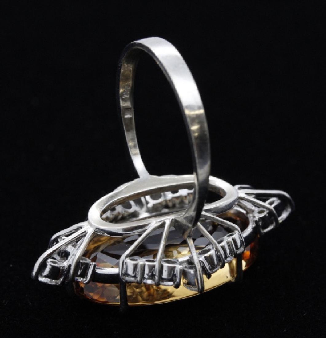 18k White Gold H STERN Precious Topaz Diamond Ring - 4