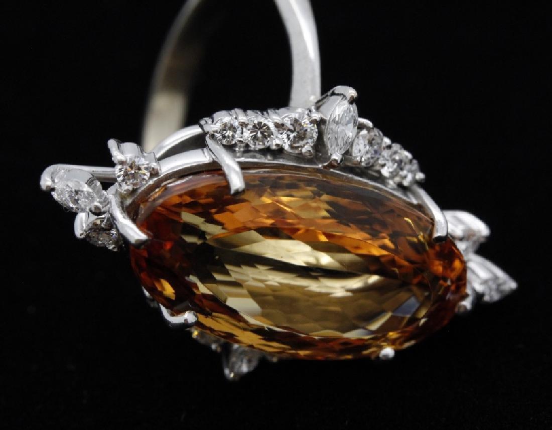 18k White Gold H STERN Precious Topaz Diamond Ring - 5