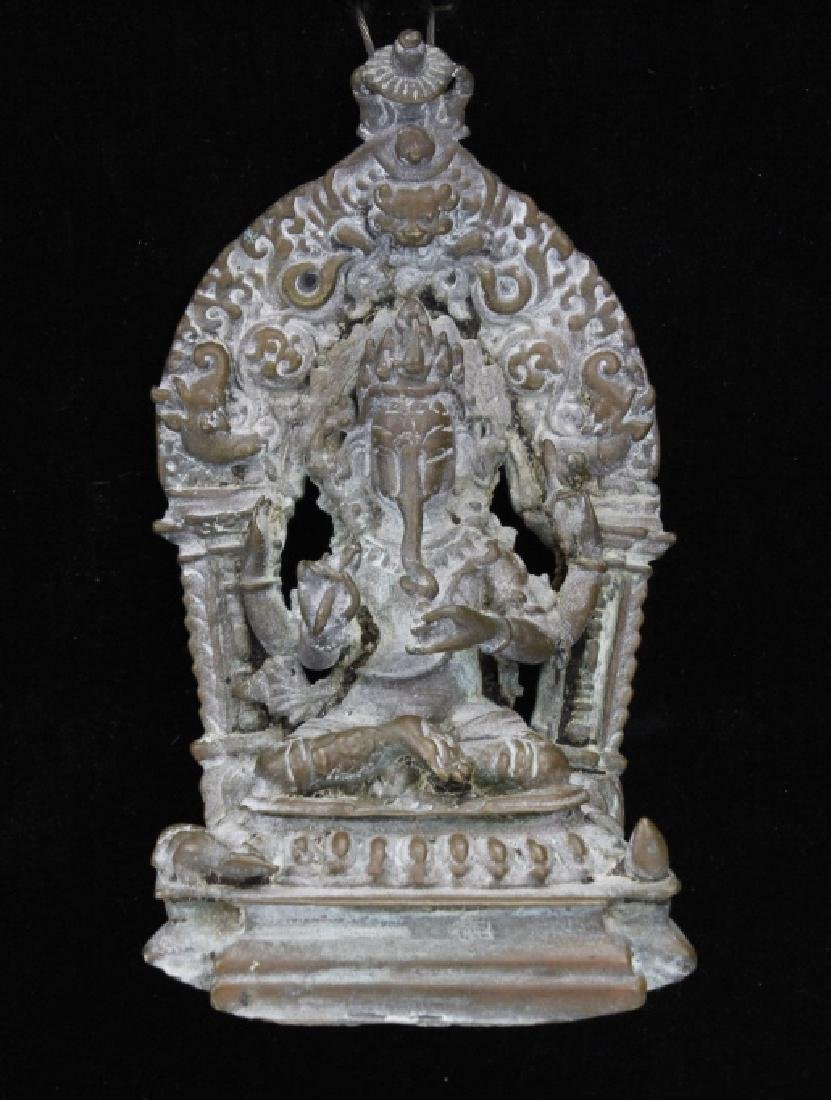 Early Bronze Figure Of Ganesh with Mendala - 2