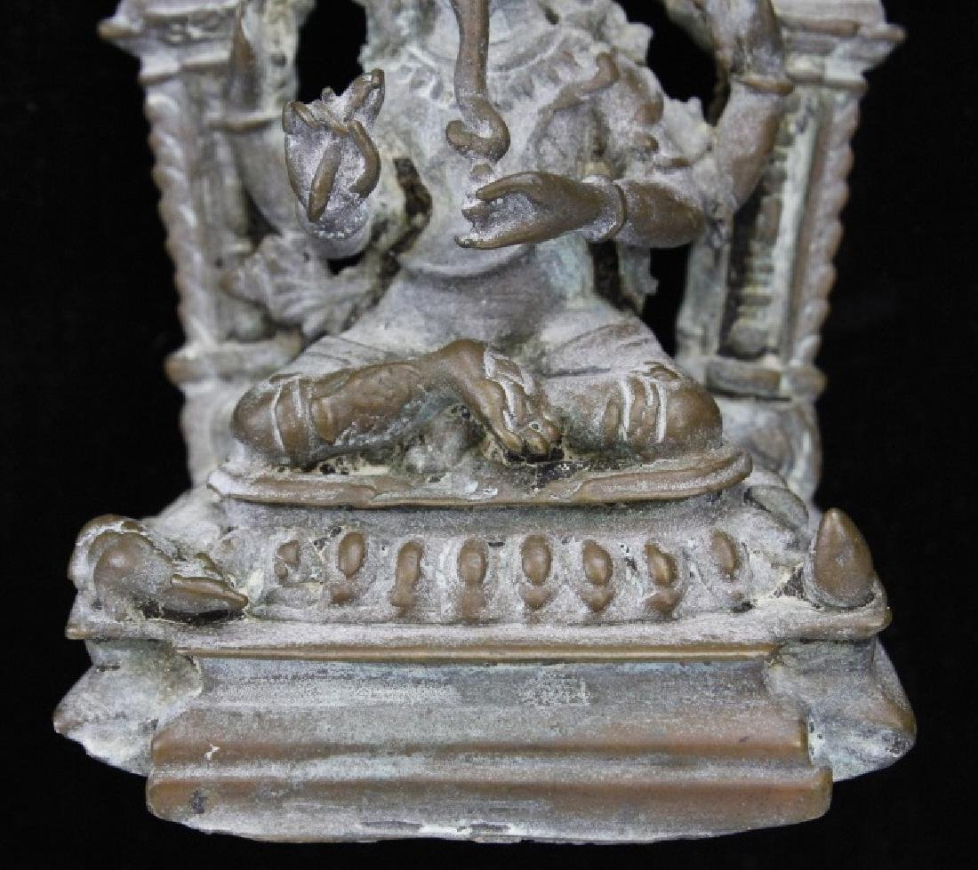 Early Bronze Figure Of Ganesh with Mendala - 5