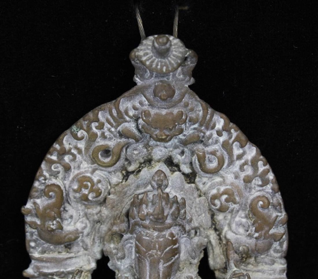 Early Bronze Figure Of Ganesh with Mendala - 6
