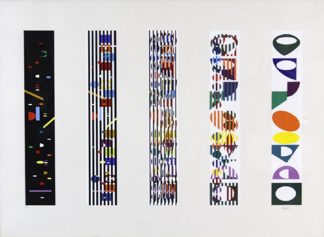 Yaacov Agam Color Silkscreen Kinetic L/E S/N Print