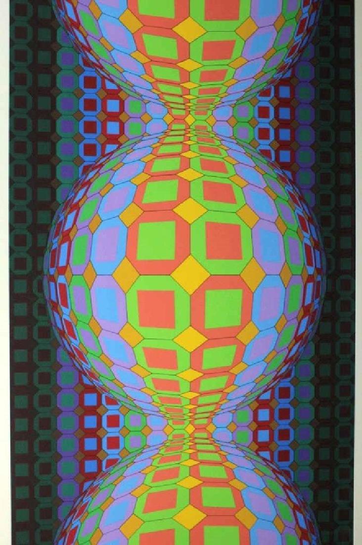 Large VICTOR VASARELY Op Art L/E Silkscreen Print