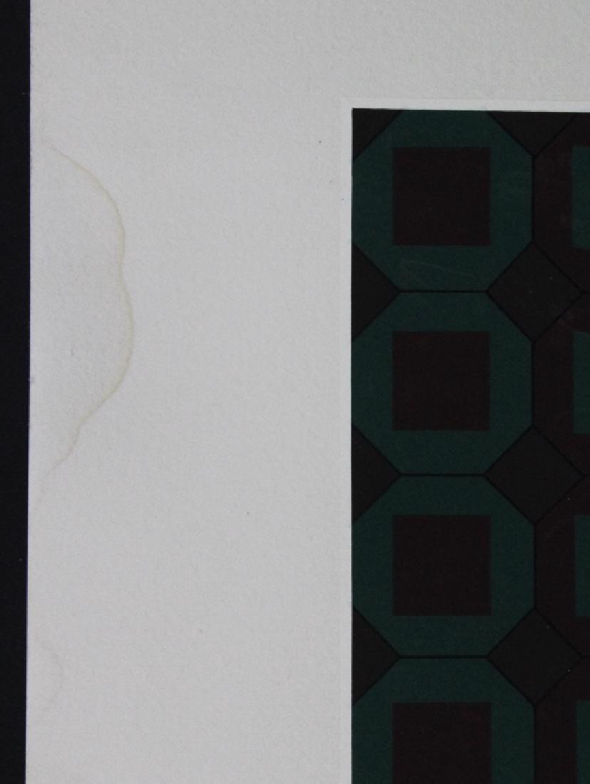 Large VICTOR VASARELY Op Art L/E Silkscreen Print - 3