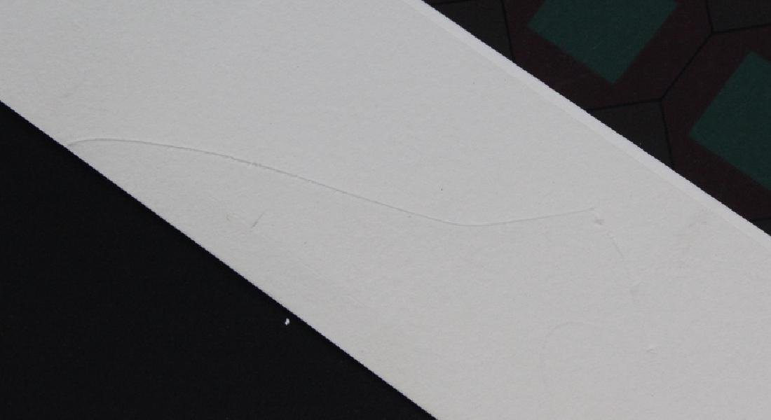 Large VICTOR VASARELY Op Art L/E Silkscreen Print - 4