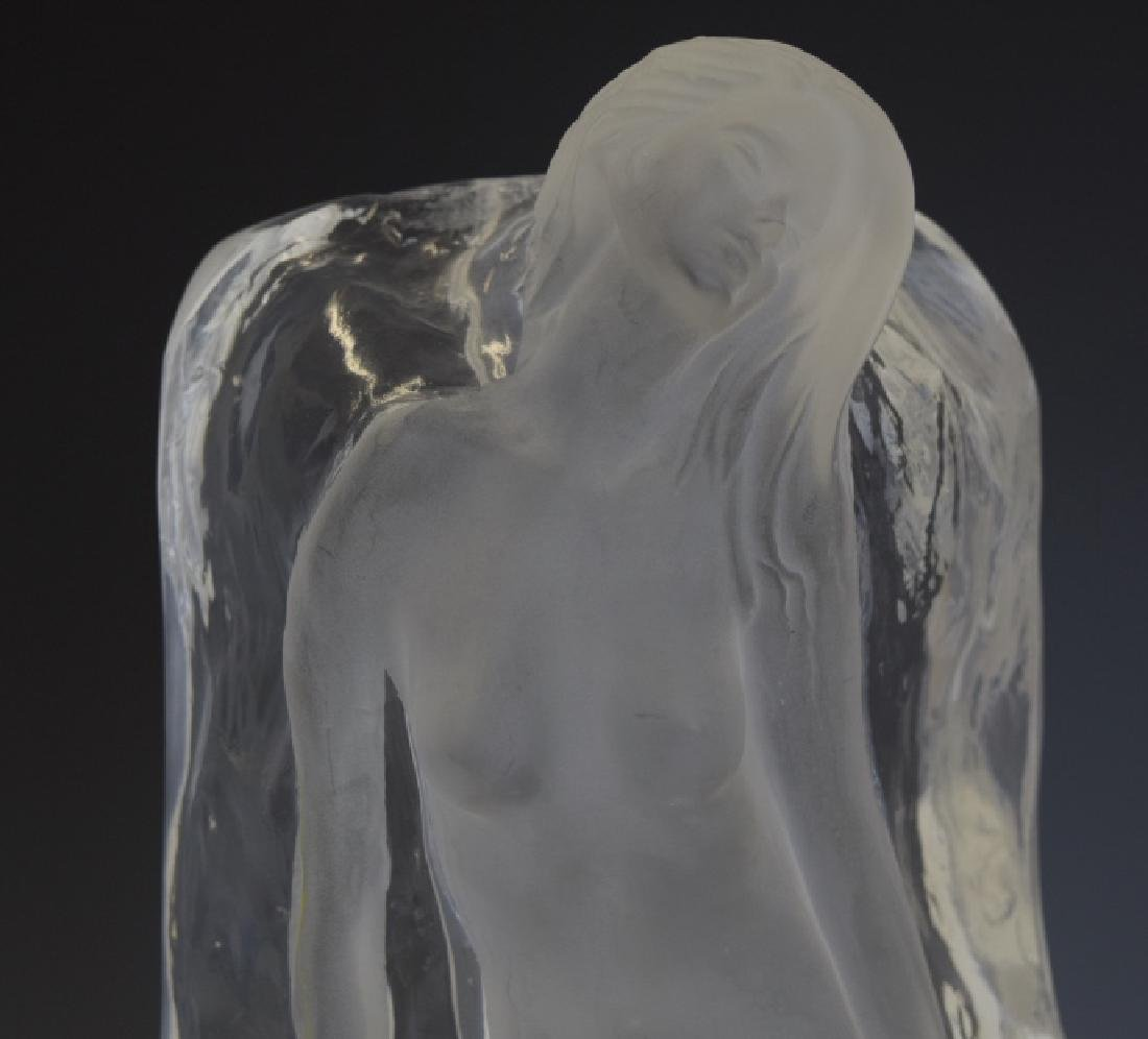 Yaacov Heller Lucite Sculpture Vase Of Nude Woman - 7