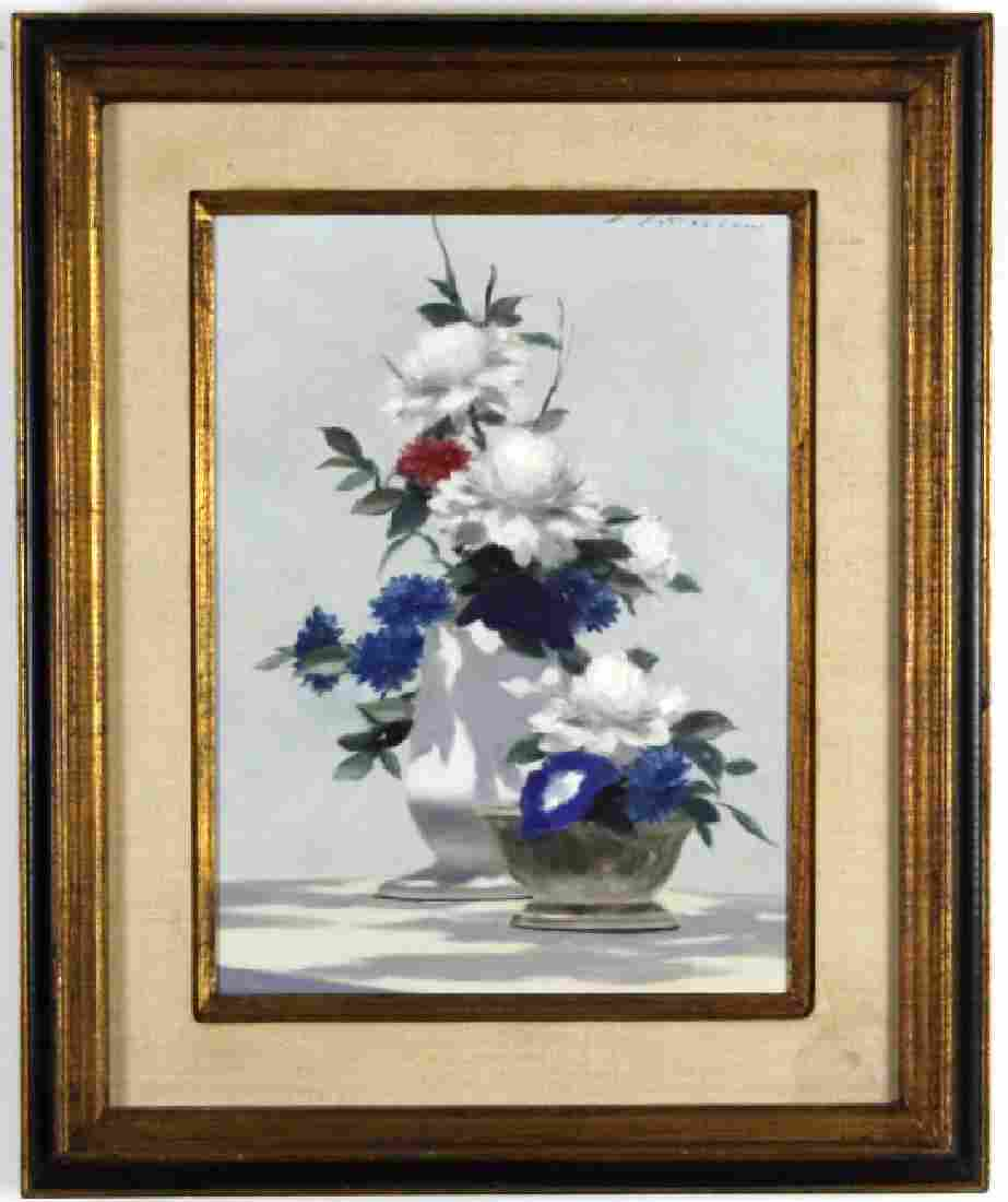 ANDRE GISSON Impressionist Still Life Oil Painting