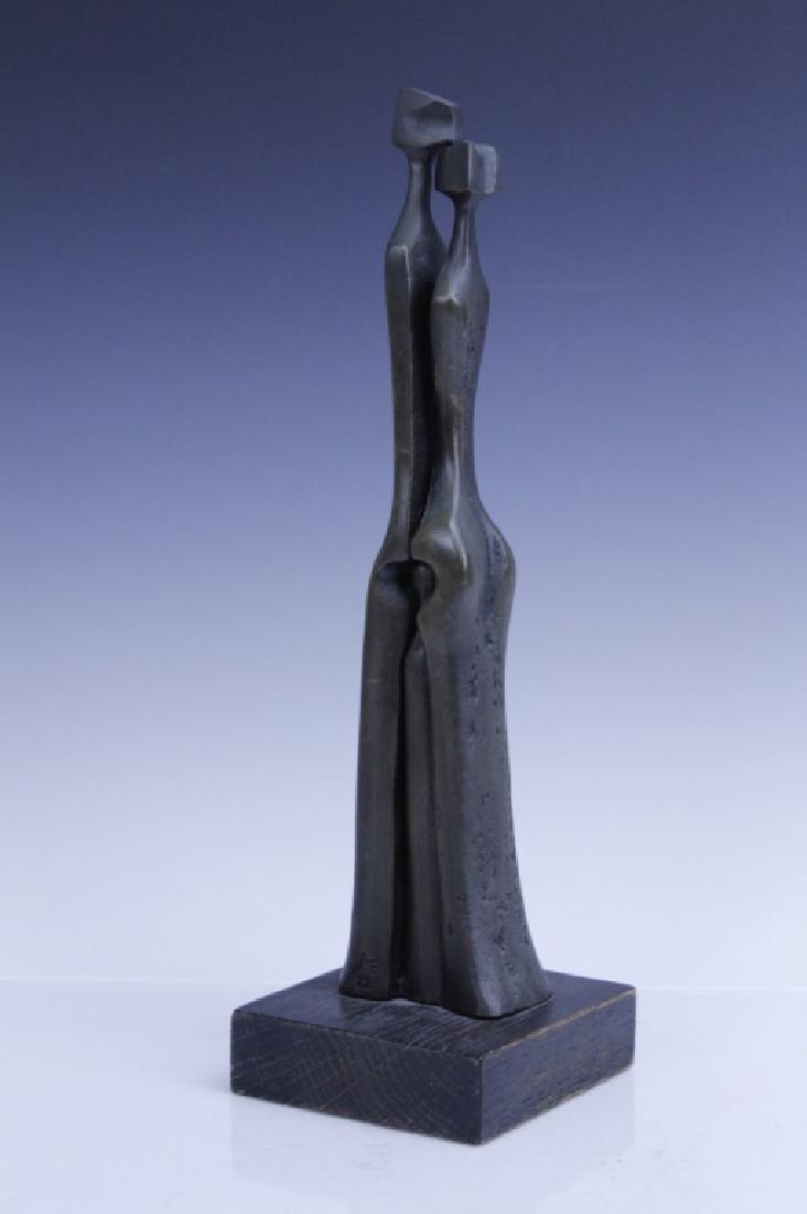 AHARONE BEZALEL Family Bronze Sculpture Israel