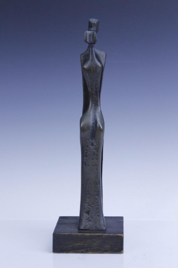 AHARONE BEZALEL Family Bronze Sculpture Israel - 2