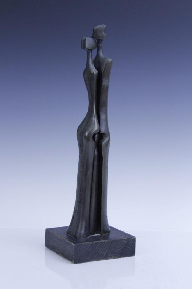 AHARONE BEZALEL Family Bronze Sculpture Israel - 3