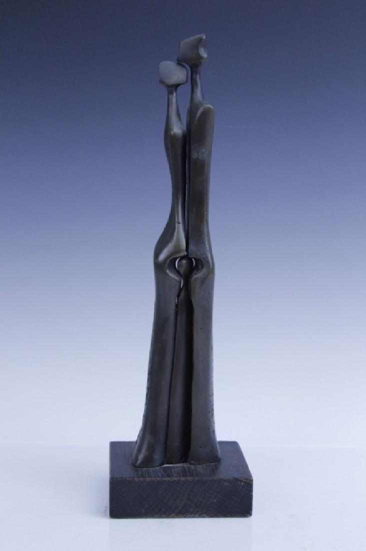 AHARONE BEZALEL Family Bronze Sculpture Israel - 4