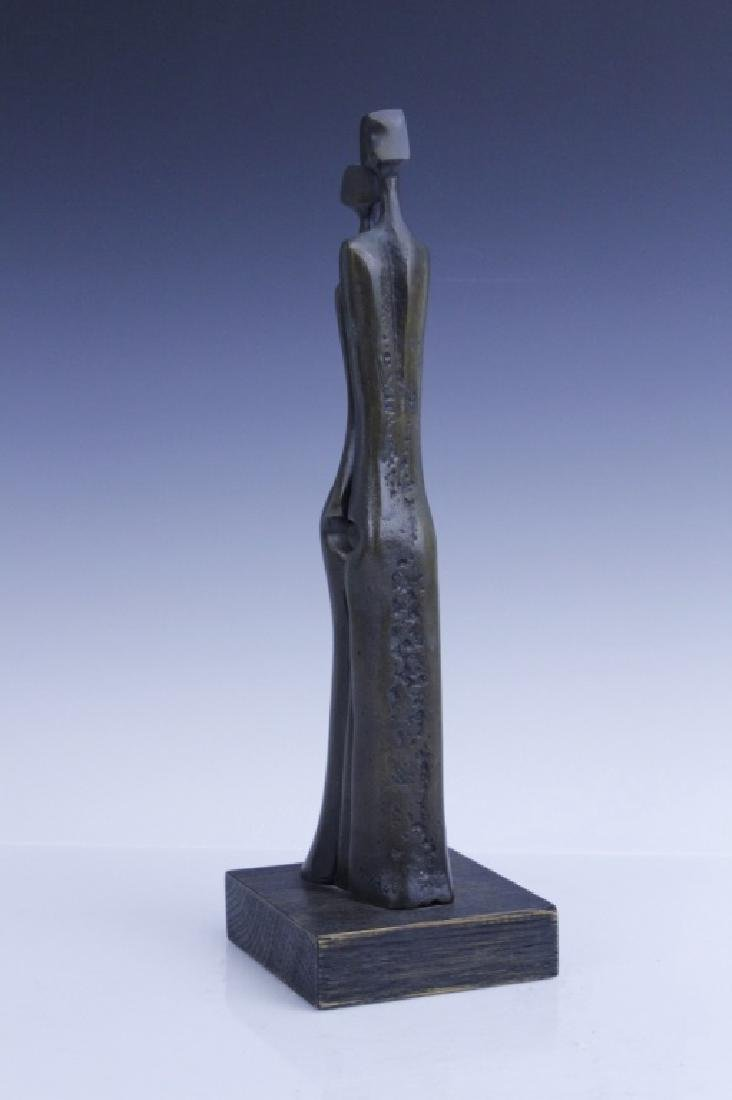 AHARONE BEZALEL Family Bronze Sculpture Israel - 5