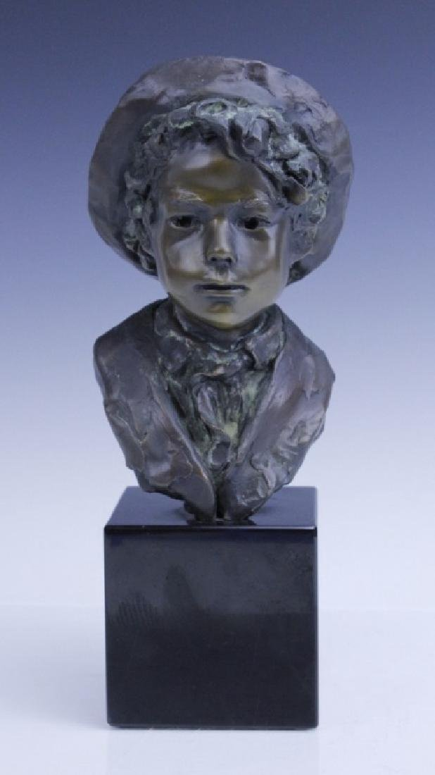 GLENNA GOODACRE Irish Waif Boy Bronze Sculpture
