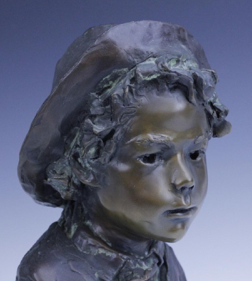 GLENNA GOODACRE Irish Waif Boy Bronze Sculpture - 7