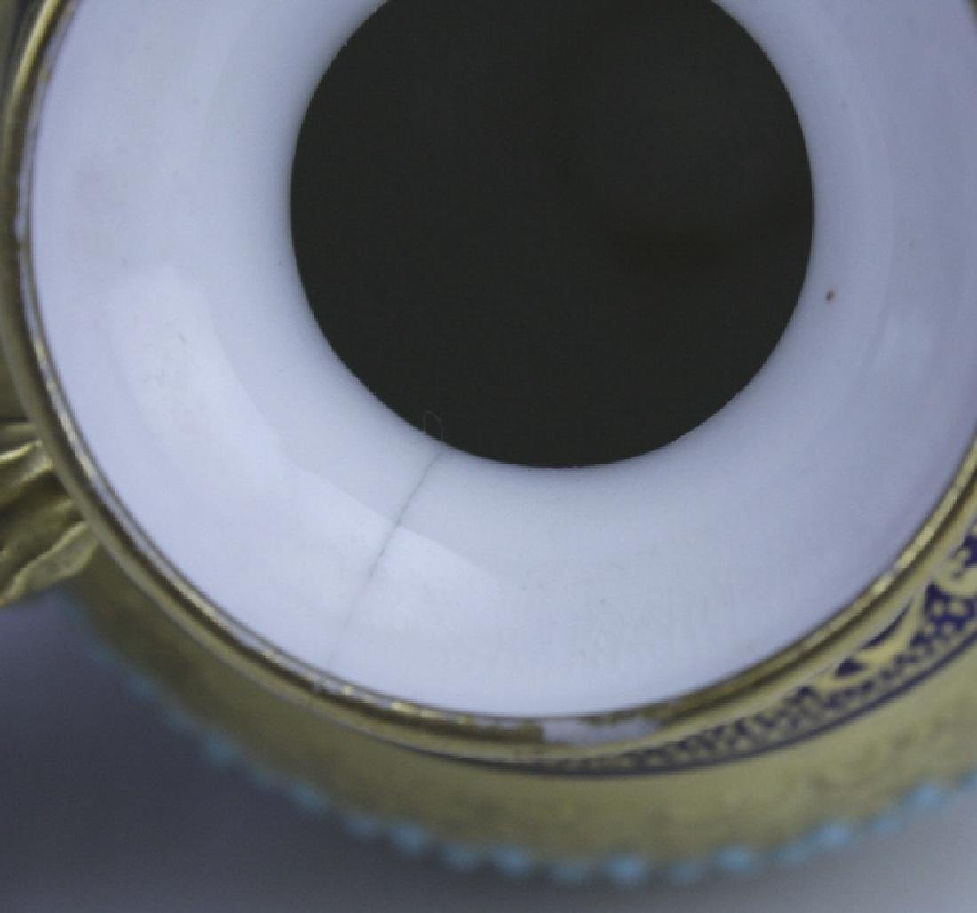 Coalport Turquoise Enamel Jewel Porcelain Vase - 9