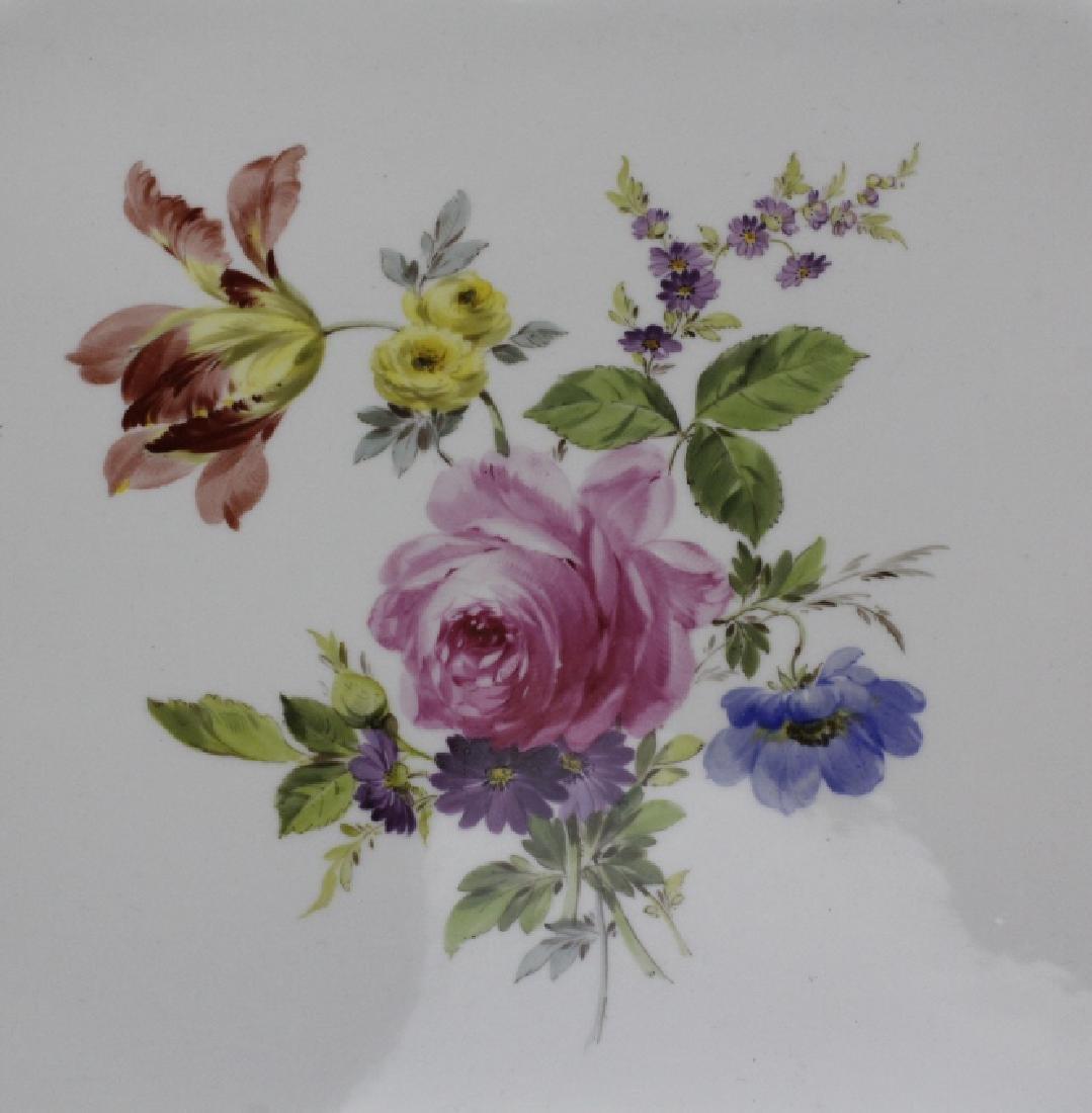 Large MEISSEN Porcelain Floral Square Platter - 2