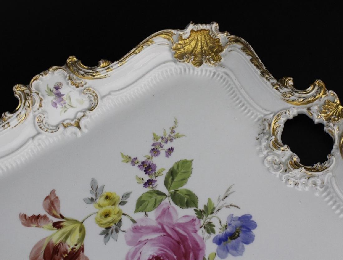 Large MEISSEN Porcelain Floral Square Platter - 3