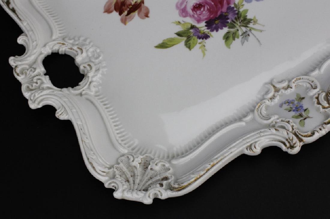 Large MEISSEN Porcelain Floral Square Platter - 4