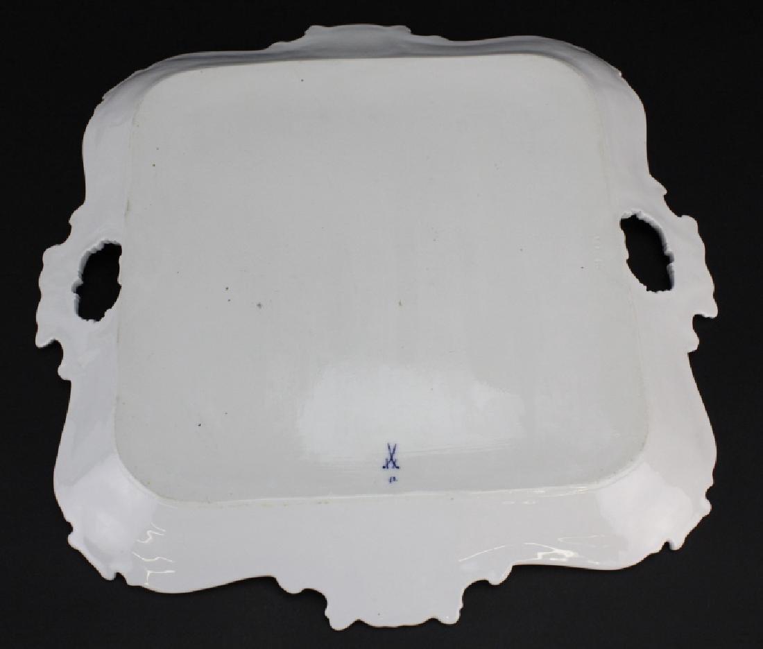 Large MEISSEN Porcelain Floral Square Platter - 6