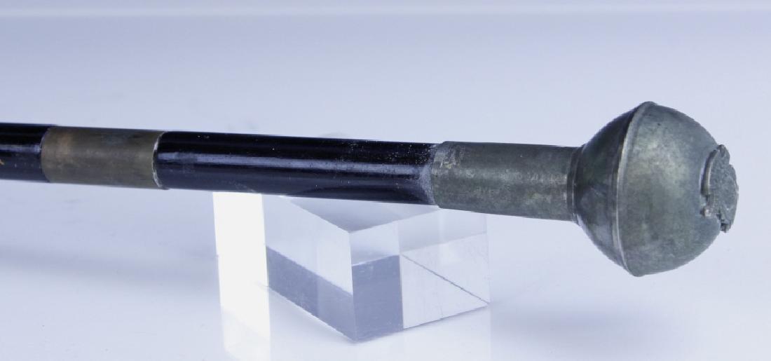 Antique English Regimental Crest Hidden Blade Cane - 4
