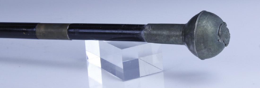 Antique English Regimental Crest Hidden Blade Cane - 5