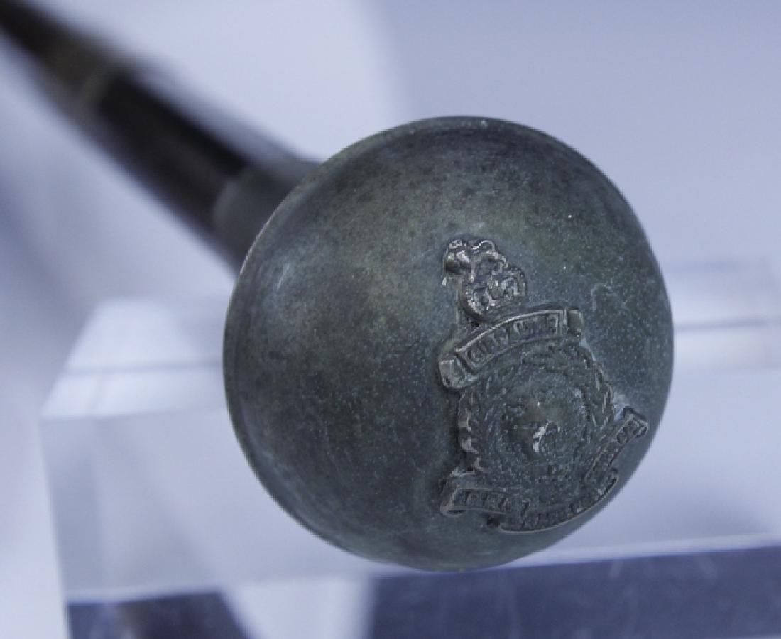 Antique English Regimental Crest Hidden Blade Cane - 6