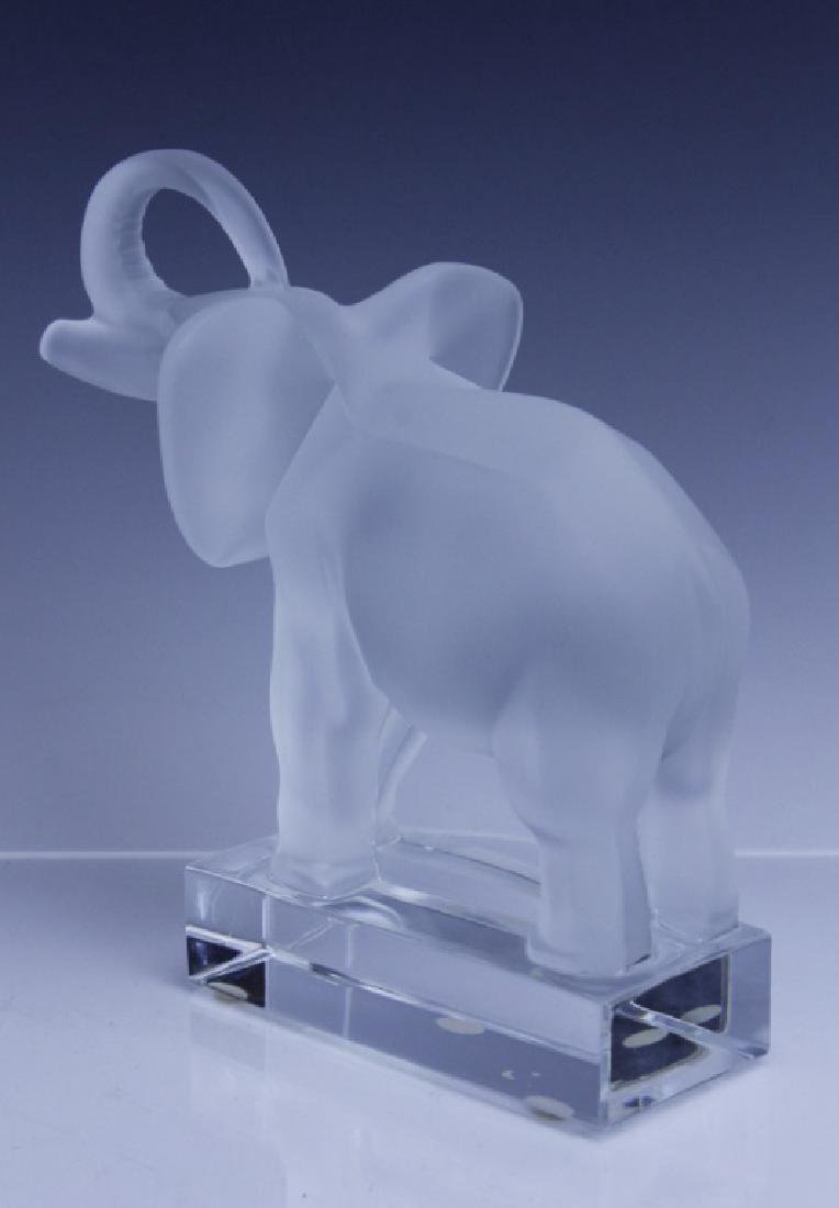 Signed LALIQUE Elephant French Glass Figurine - 4
