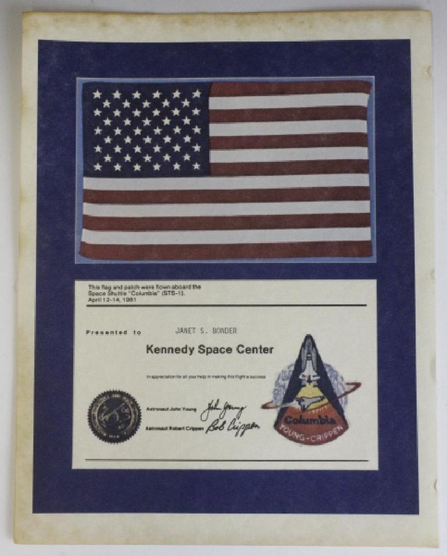 NASA STS-1 Space Shuttle Columbia Flown Flag - 2
