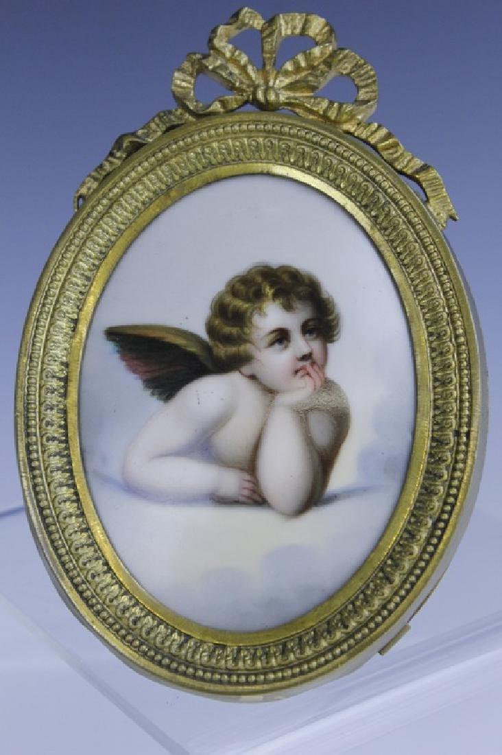 KPM Style Berlin Porcelain Angel Portrait Plaque