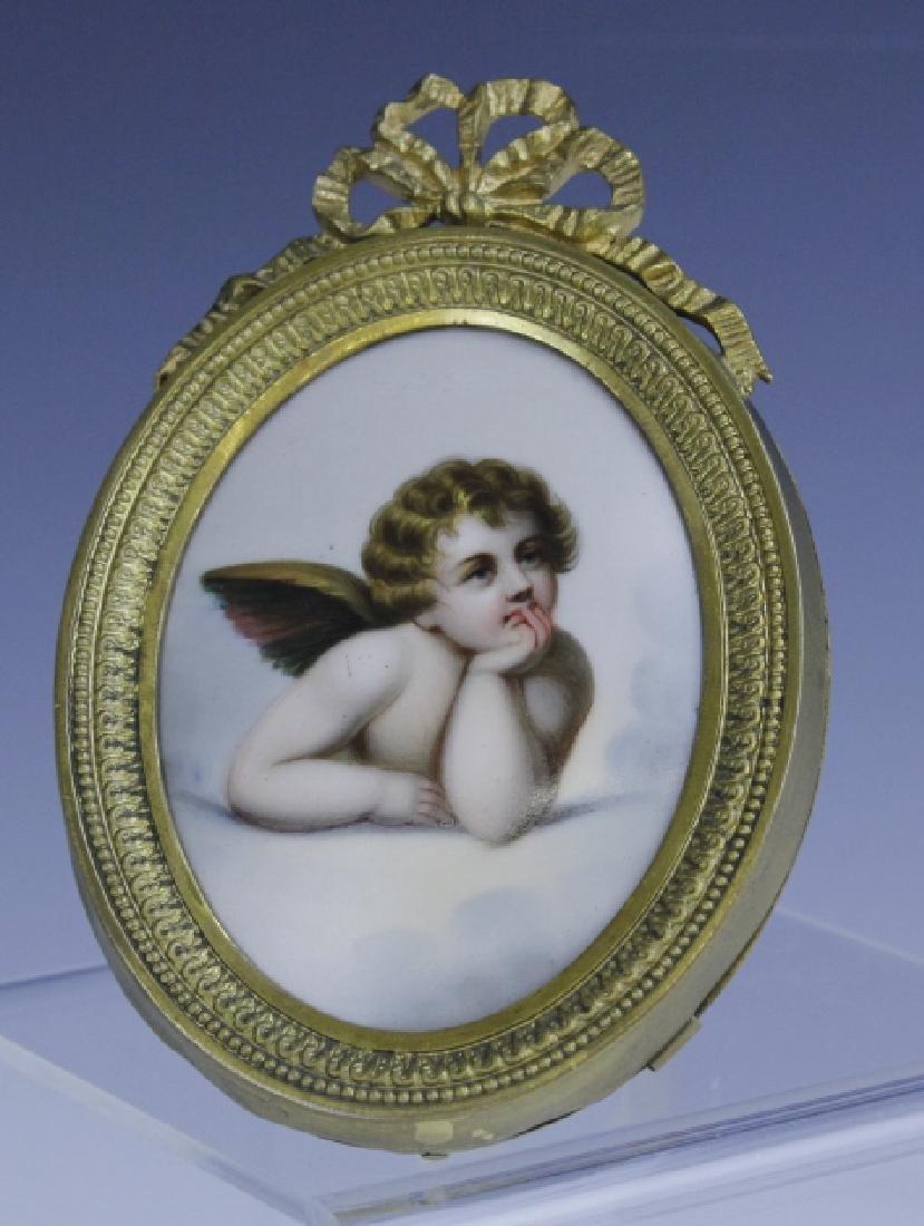 KPM Style Berlin Porcelain Angel Portrait Plaque - 2