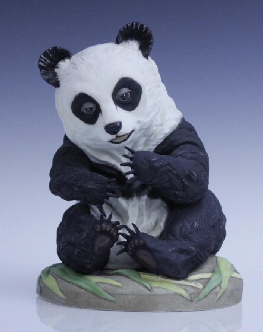 BOEHM Seated Panda Bear Cub Porcelain Figurine