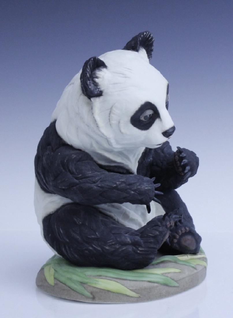 BOEHM Seated Panda Bear Cub Porcelain Figurine - 2