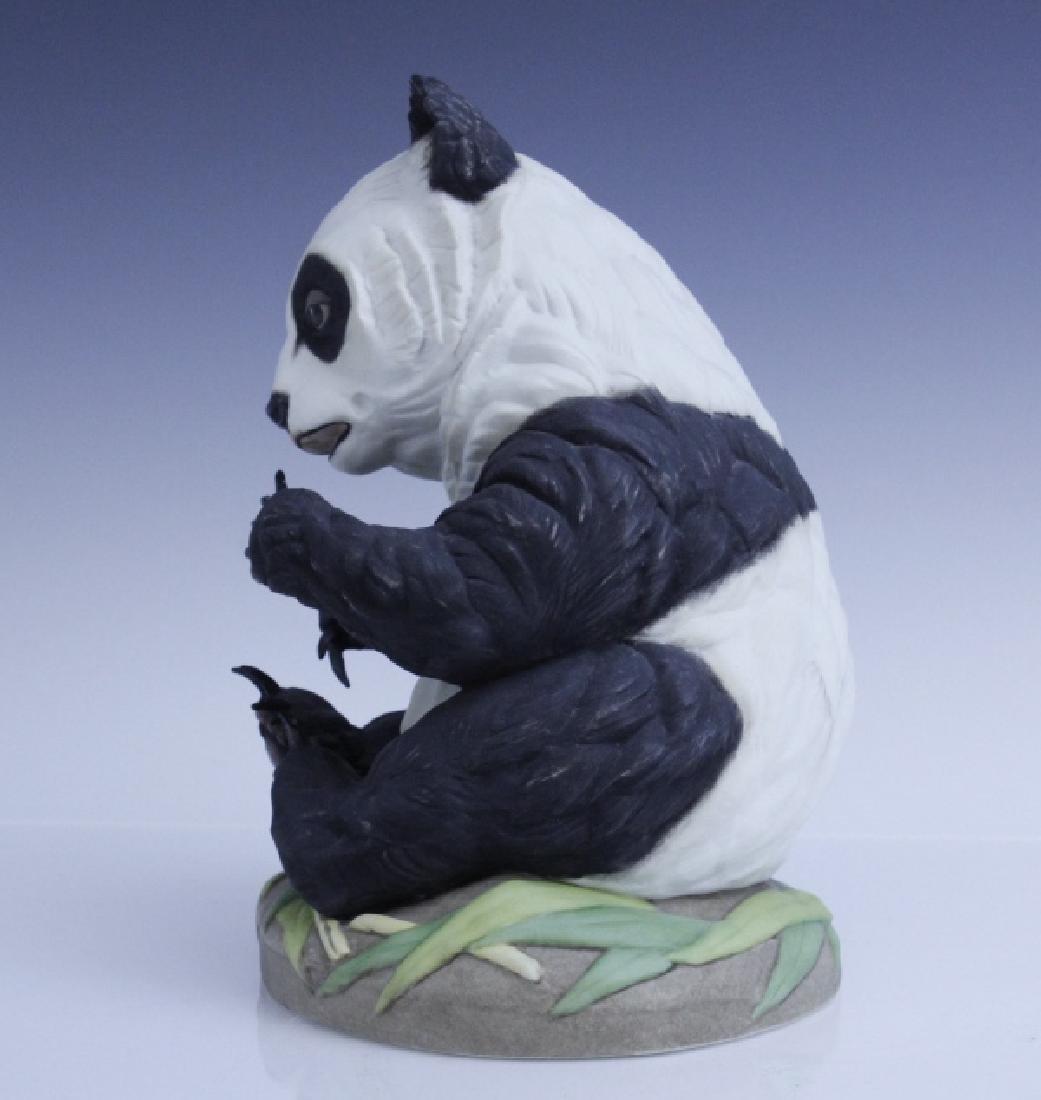BOEHM Seated Panda Bear Cub Porcelain Figurine - 3