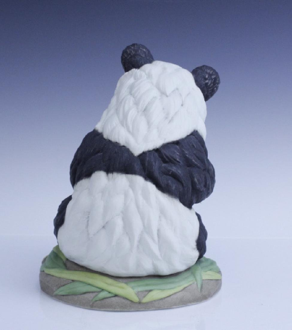 BOEHM Seated Panda Bear Cub Porcelain Figurine - 4